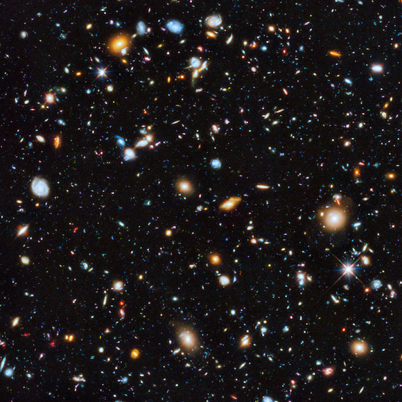 Hubble's colourful view of the Universe. flickr photo by Hubble Space Telescope / ESA https://flickr.com/photos/hubble_esa/14387061164 shared under a Creative Commons (BY) license