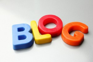 Featured Image. The word BLOG spelled out with colorful letters.